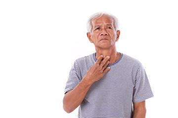 sick old man, sore throat
