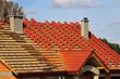 Leinwanddruck Bild - roof, building, covering, insulation, atmospheric, repair,