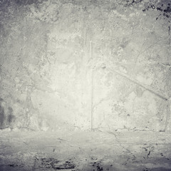 Old gray cement wall