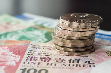 Hong Kong dollars and coins