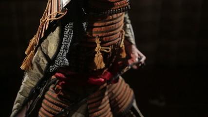 samurai removes his sword