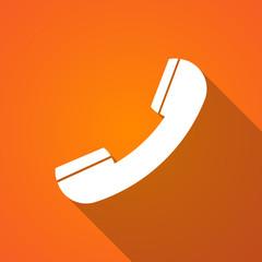 Long shadow phone icon