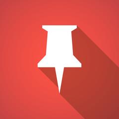Long shadow push pin icon