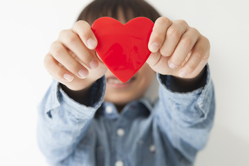 Children have a red heart