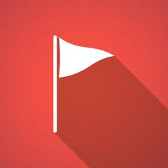 Long shadow golf flag icon