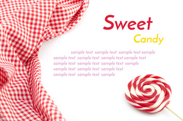 Sweet candy with sample text