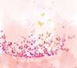 watercolor butterflies background - 81481430