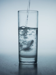 Studio shot of a glass of water