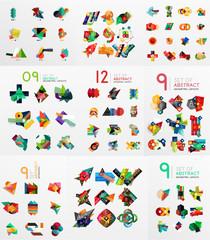 Vector set of paper graphics
