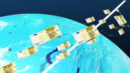 Euro of the world congregate to the Europe(euro money)