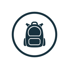 backpack icon circle shape
