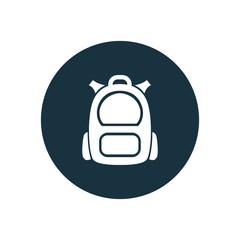 backpack icon circle shape