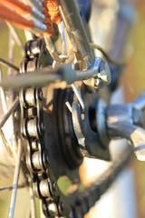 Bike chain closeup