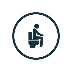 wc pan icon circle shape.