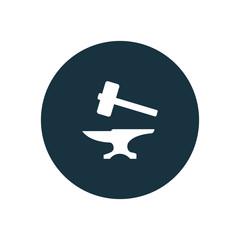 anvil icon circle shape