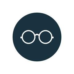 round glasses icon circle shape