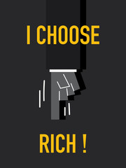 Words I CHOOSE RICH