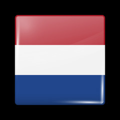 Flag of Netherlands. Glossy Icons