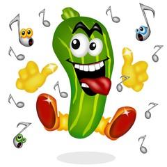 zucchina e musica rock