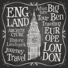 Big Ben vector logo design template. London, UK or England icon.