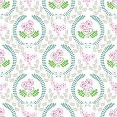 春の花「レンゲ草」スクエア形状B(ホワイト背景-基本サイズ)