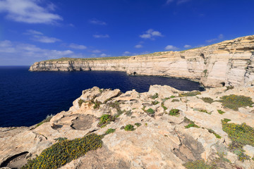 Coastline on Gozo Island
