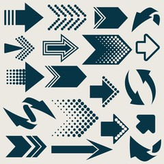 Vector arrow sign icons
