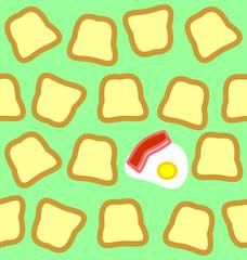Breakfast seamless texture
