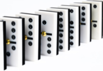 Row dominoes