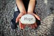 Leinwanddruck Bild - Hope of a child