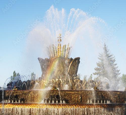 "Leinwanddruck Bild Fountain ""Stone flower"", ENEA , Moscow, Russia."
