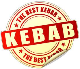 kebab red sticker