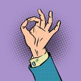 Fototapety gesture sign okay pop art comics retro style Halftone