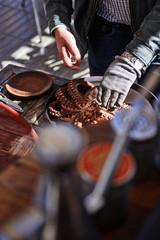 Pulpo a la Gallega, pulpo a feira. Marinated Octopus