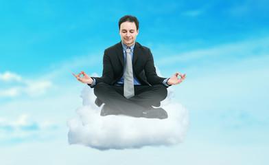 Zen businessman