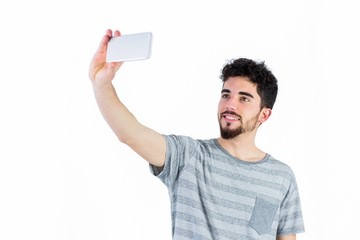 Casual man taking a selfie