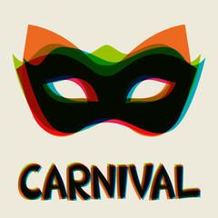 Celebration festive background design with carnival masks