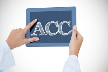 Acc against doctor using tablet pc