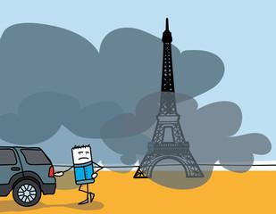 Pic de pollution aux particules fines dans les grandes villes