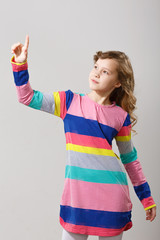 Pointing girl