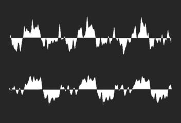 Black and white waveform