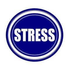 Stress white stamp text on blueblack