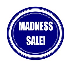 Madness sale white stamp text on blueblack