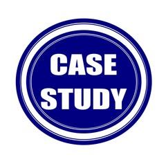 Case study white stamp text on blueblack