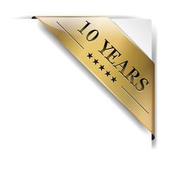 ribbon gold 10 Years