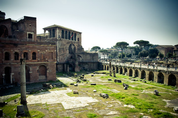 View from Trajan's forum in Rome