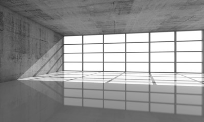 Abstract architecture background, 3d concrete interior