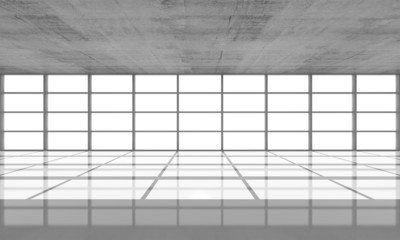 Abstract architecture background, empty concrete interior