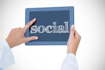 Social against doctor using tablet pc
