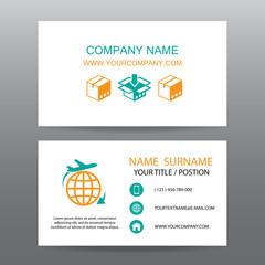 Business card vector background,Shipping, and Logistics